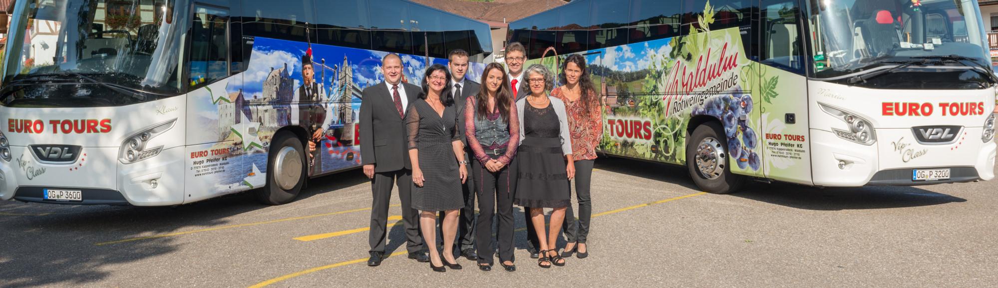 Das Team von Eurotours Pfeifer